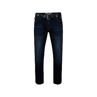 KAM Jeanswear Garcia Belted Stretch Jeans