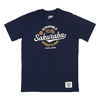Scramble x KS Sakuraba Wrestling T-Shirt Blue