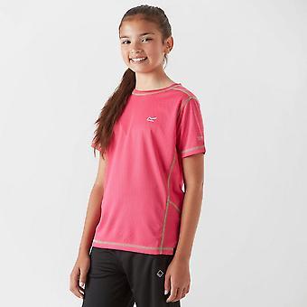 Regatta Girls' Short Sleeve Round Neck Dazzler T-Shirt Pink