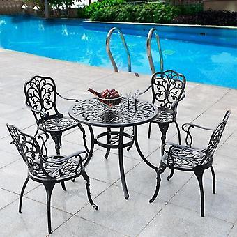 Patio Möbel Essen Set Garten Stuhl Tisch massiver Guss Aluminium Antik