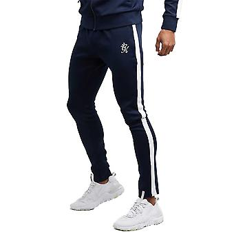 Gym King Poly Basis Tracksuit Bottoms - Navy/White