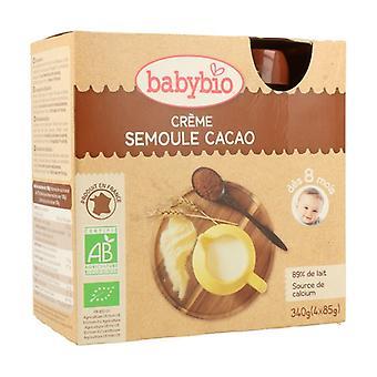 8 أشهر العضوية Semolina الكاكاو كريم زجاجة 4 وحدات من 85g (الكاكاو)