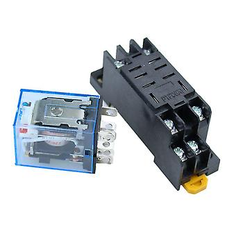 Ac Coil Power Relay, 8 Pin, With Socket Base