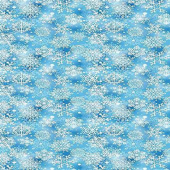 Tapete impresso multicolorido snow and stars em poliéster, algodão, L100xP200 cm