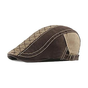 Portable For Vintage Unisex Twill Soft Cotton Flat Peaked Cap Adjustable Newsboy Hunting Beret Hat