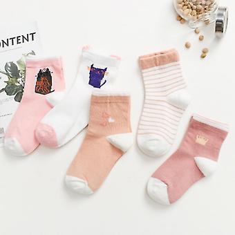 Cute Cartoon Baby Cotton Warm Breathable Autumn Winter Middle Tube Sock