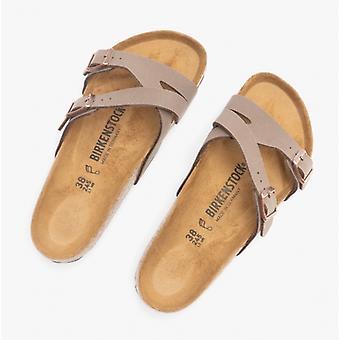 Birkenstock Yao Balance 1016328 (reg) Ladies Birko-flor Nubuck To Strap Sandaler Mokka
