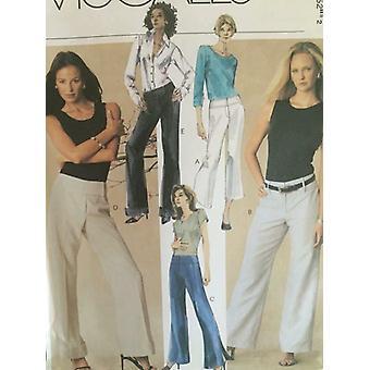 McCalls ompelu kuvio 3935 Naiset Misses Housut Kaksi pituutta Koko 12-18 Leikkaamaton
