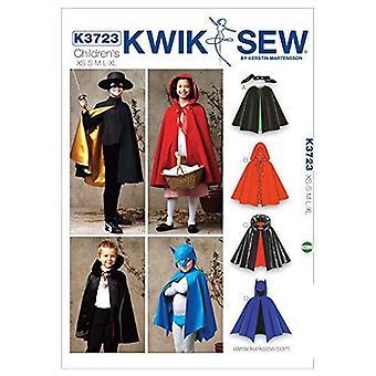 Kwik Sew Sewing Pattern 3723 Girls Boys Capes Costumes Size XS-S-M-L-XL