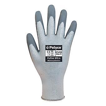 Dyflex POLYCO DFU/08 Ultra senza cuciture a maglia guanto/w rivestimento in poliuretano taglia 8