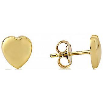 Mark Milton Heart Stud Örhängen - Guld