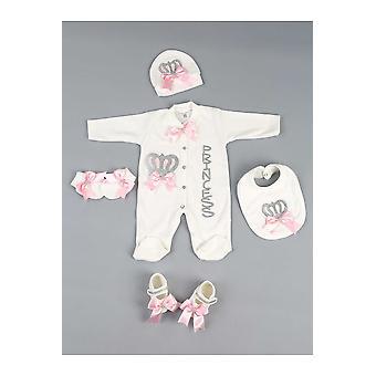 Baby Strampler Queen Jumpsuit Sets, Handschuhe, Schuhe