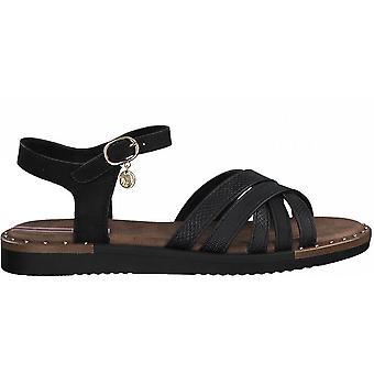 Schwarze Casual flache Sandalen