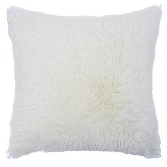 pillow Shaggy 50 x 50 cm textile white