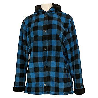 Kos Duds Kvinner's Fleecewear Sherpa Jakke Blå A381706