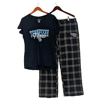 NFL Dames Pyjama Set Titans Flanel Broek & T-Shirt Blauw A370730