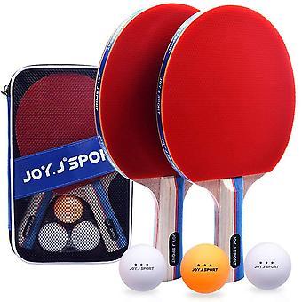 FengChun Tischtennisschlger, Pingpong-Schlger Set mit 2 Schlger und 3 Bllen, Tischtennis-Schlger fr