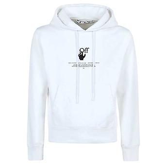 Off White OFFF Grafitti Logo White Hoodie