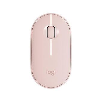 DZK Wireless Bluetooth Mouse carino Mouse portatile (rosa)