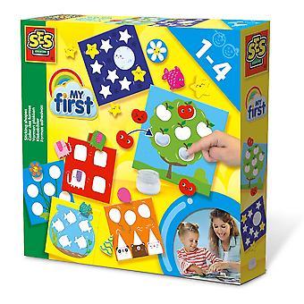 SES Creative - Juego de formas de mi primer palo para niños (multicolor)