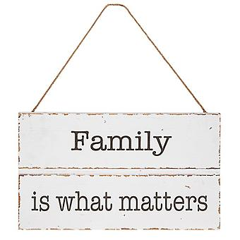 Homestyle Hanging Wood Plaque Family