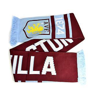 Aston Villa Nero Jacquard Knit Scarf