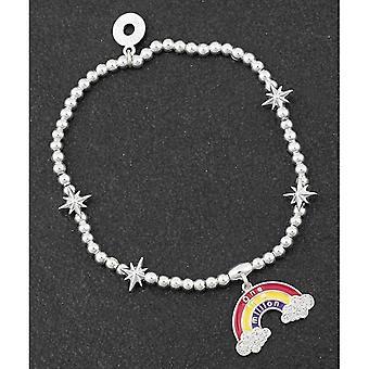 Un braccialetto placcato argento arcobaleno da un messaggio su un milione