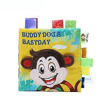 Buddy Dog's Basyday Interesting Cloth Book With Bb Device Plush Baby Fabric Book