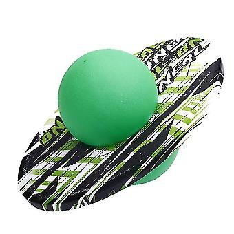 Explosion Proof Elastic Pogo Ball, Fitness Equipment New Graffiti Round Board Adult(GREEN)