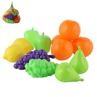 Polesie Spielzeug 46994, 12-teiliges Spielzeugfrüchte-Set, Trauben, Birne, Apfel