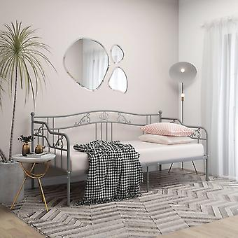 vidaXL سرير سرير أريكة الإطار المعدني الرمادي 90x200 سم