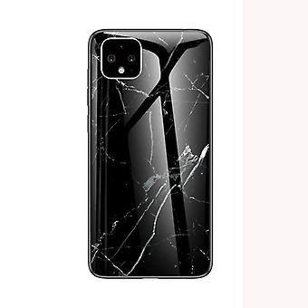 Marbled tempered glass shell