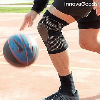 Kniesteun met koperen en bamboe houtskooldraden Kneecare InnovaGoods