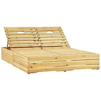 vidaxl doppio lettino verde impregnato legno di pino