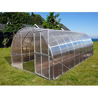 Drivhus polycarbonat TITAN Arch+ 320, 18m², 3x6m, Sølv