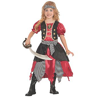Buccaneer Princess Pirate of the Caribbean Story Book Week Child Girls Costume