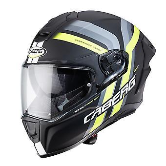 Caberg Drift Evo Vertikal Matt Full Face Motorcykelhjälm Gul Svart/Antracit