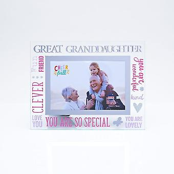 Widdop & Co. 3d Words Great Granddaughter Glass Photo Frame Cf10064ggd