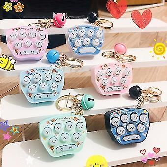 Mini Hamster Spiel Maschine Konsole Schlüsselanhänger Spielzeug Kinder Handheld Nostalgische Konsole Spiel Rucksack