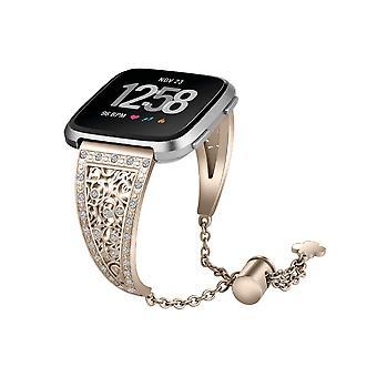 Smart Orologio Braccialetto Fiore Metallo Acciaio Inossidabile Lucido Catena Regolabile Cinturino da polso per Fitbit