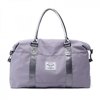 Sports Tote Gym Bag With Wet Pocket And Trolley Sleeve(Gray)