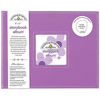 "Doodlebug Storybook D-Ring Album 8""X8"" - Lilac"