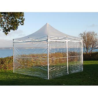 Vouwtent/Easy up tent FleXtents Xtreme 50 3x3m Doorzichtig, inkl. 4 Zijwanden