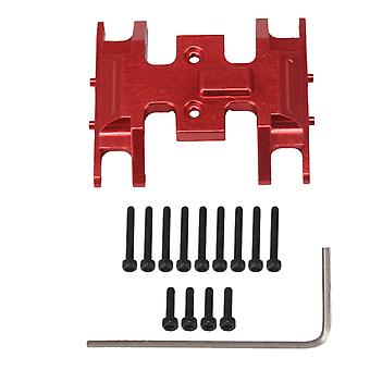 Kauko-ohjattava auto kuorma rc 1:24 metallinen vaihdelaatikko liukulevy vaihdelaatikko pohja korvaa aksiaali punainen
