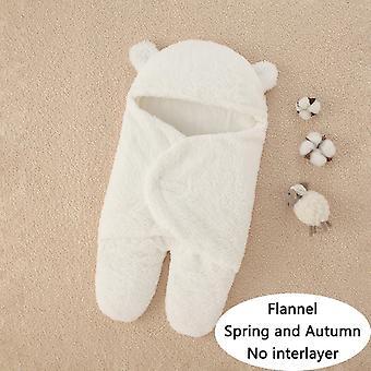 Soft Newborn Baby Wrap Blankets Baby Sleeping Bag  type flannel Nointerlayer