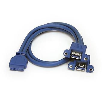 2 Cabo de montagem do painel de porta USB 3.0 - USB a para cabo cabeçalho da placa-mãe F/f