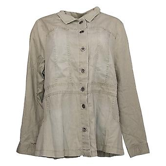 DG2 by Diane Gilman Women's Jacket Reg Button-Up Green 323266