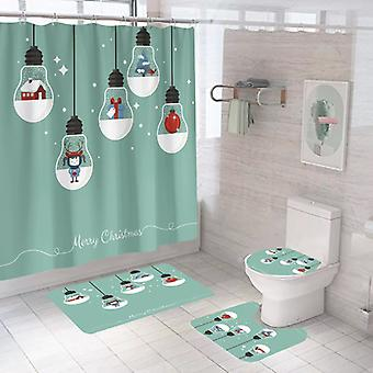 Polyester Festival Chrismax decoration Bathtub shower Curtains for Bathroom and batchroom