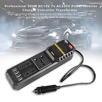 Professional 200w Dc12v To Ac220v Power Inverter Charger Converter Transformer