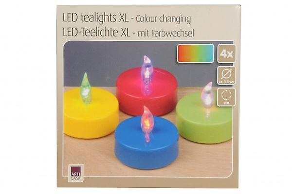 4pcs LED Tea lights Candles Flameless Flickering Battery Operated